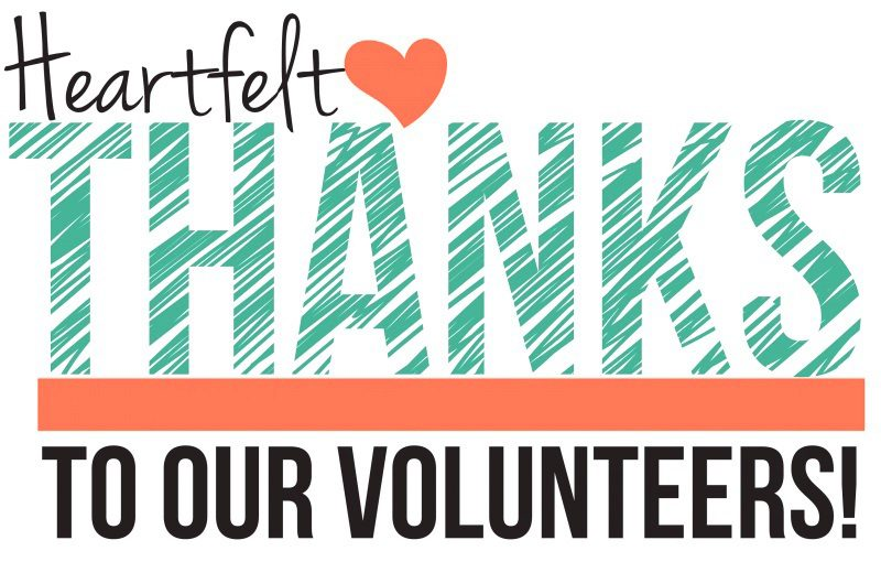 THANK YOU TO ALL OUR RECENT VOLUNTEERS!
